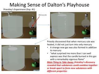 Making Sense of Dalton's Playhouse