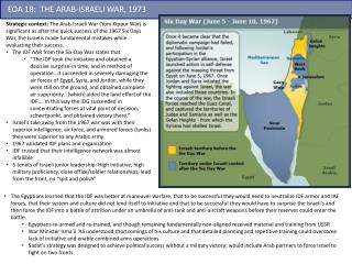 EOA  18 :   THE ARAB-ISRAELI WAR, 1973
