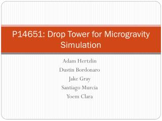 P14651: Drop Tower for Microgravity Simulation