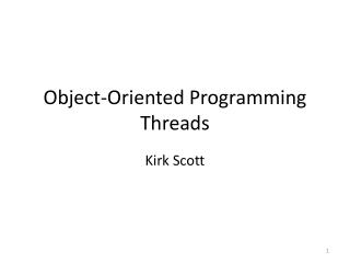 Object-Oriented Programming Threads