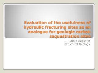 Caitlin  Augustin Structural Geology