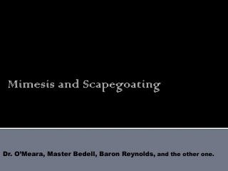 Mimesis and  Scapegoating