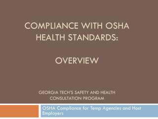 OSHA Compliance for Temp Agencies and Host Employers
