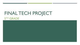 Final Tech Project