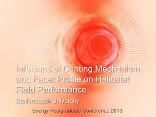 Influence of Canting Mechanism and Facet Profile on Heliostat Field Performance
