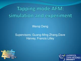 Tapping mode AFM: simulation and experiment