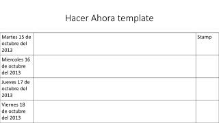 Hacer A hora  template