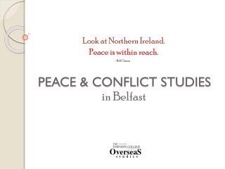 PEACE & CONFLICT STUDIES