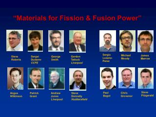 """Materials for Fission & Fusion Power"""
