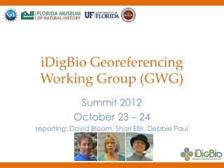 iDigBio Georeferencing Working Group (GWG)