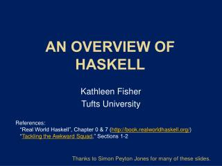 AN Overview OF Haskell