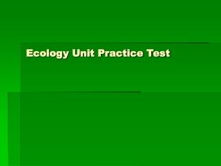 Ecology Test 4