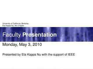 Faculty Presentation
