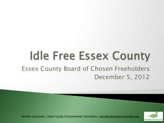 Idle Free Essex County