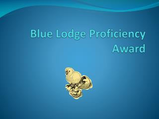 Blue Lodge Proficiency Award