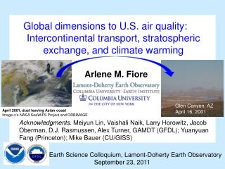 Earth Science Colloquium, Lamont-Doherty Earth Observatory 		September 23, 2011