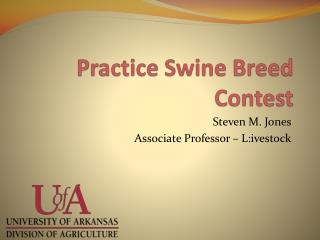 Practice Swine Breed Contest