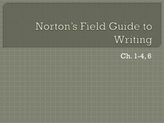 Norton's Field Guide to Writing