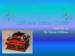 Chinese Water Clocks