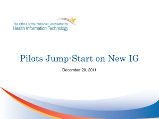 Pilots Jump-Start on New IG
