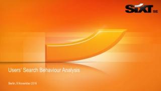 Users' Search Behaviour Analysis
