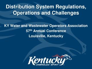 Distribution System Regulations, Operations and Challenges