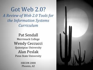 Got Web 2.0? A Review of Web 2.0 Tools for the Information Systems Curriculum