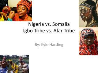 Nigeria vs. Somalia Igbo Tribe vs. Afar Tribe