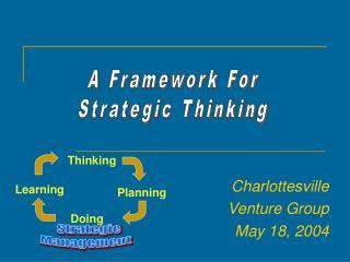 Charlottesville Venture Group May 18, 2004