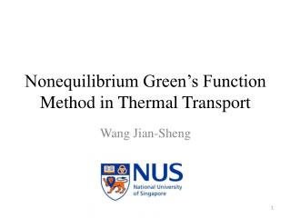 Nonequilibrium Green's Function Method in Thermal Transport