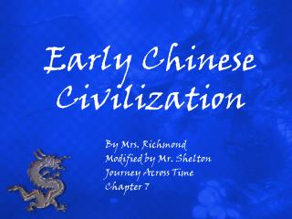 Early Chinese Civilization