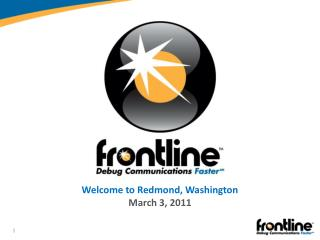 Welcome to Redmond, Washington March 3, 2011