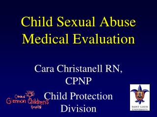 Child Sexual Abuse Medical Evaluation