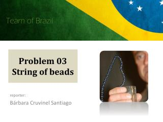 Problem 03 String of beads
