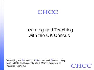 Learning and Teaching  with the UK Census