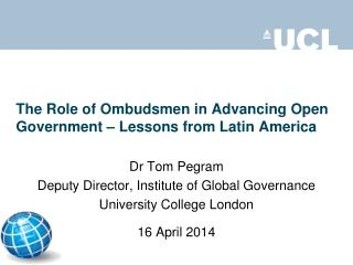 The Role of Ombudsmen in Advancing Open Government – Lessons from Latin America