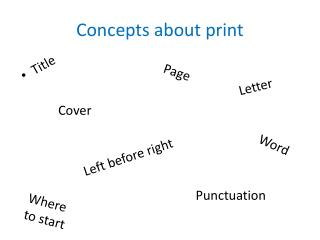 Concepts about print