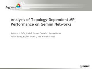 Analysis of Topology-Dependent MPI Performance on Gemini Networks