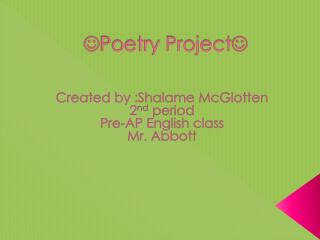  Poetry Project 