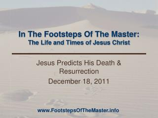 In The Footsteps Of The Master : The Life and Times of Jesus Christ