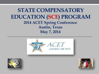 State Compensatory Education ( SCE ) Program