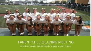 Parent Cheerleading Meeting