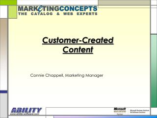 Customer-Created Content