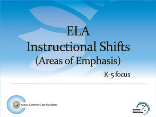 ELA  Instructional Shifts  (Areas of Emphasis) K-5 focus