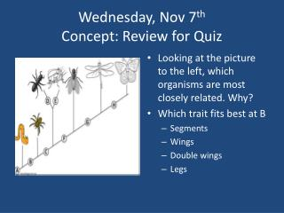 Wednesday, Nov 7 th Concept: Review for Quiz