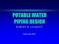 POTABLE WATER PIPING DESIGN