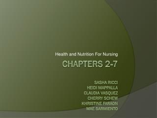 Health and Nutrition  For Nursing