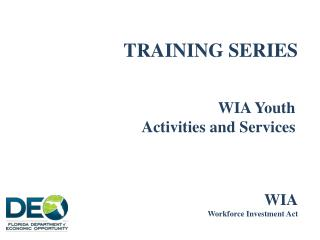TRAINING SERIES