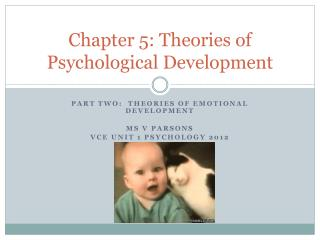 Chapter 5: Theories of Psychological Development