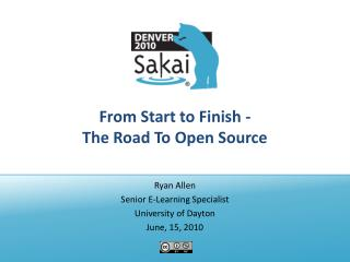 From Start to Finish - The Road To Open Source